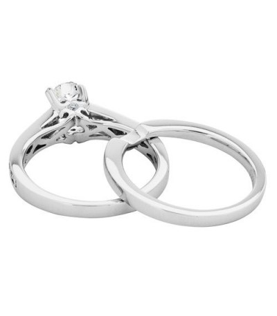 1 Carat Eternitymark Diamond Bridal Set 18Kt White Gold