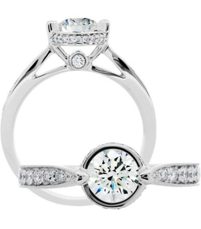 Rings - 1.06 Carat Round Brilliant Diamond Ring 18Kt White Gold