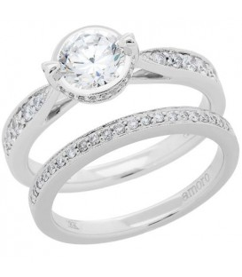 More about 1.14 Carat Eternitymark Diamond Bridal Set 18Kt White Gold