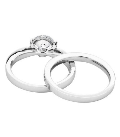 1.14 Carat Eternitymark Diamond Bridal Set 18Kt White Gold