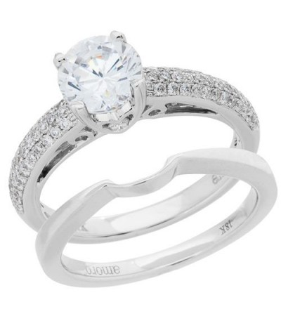 Rings - 1.12 Carat Eternitymark Diamond Bridal Set 18Kt White Gold
