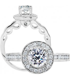 More about 1.08 Carat Round Brilliant Pristine Hearts Diamond Ring 18Kt White Gold