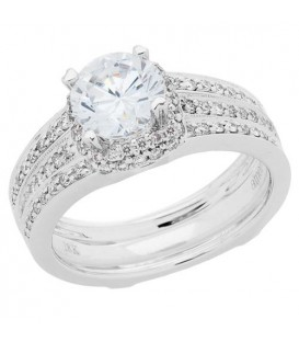 More about 1.17 Carat Eternitymark Diamond Bridal Set 18Kt White Gold