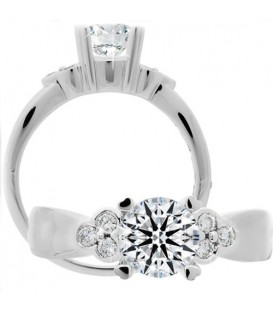 More about 1.14 Carat Round Brilliant Eternitymark Diamond Ring 18Kt White Gold