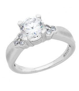 1.14 Carat Round Brilliant Eternitymark Diamond Ring 18Kt White Gold