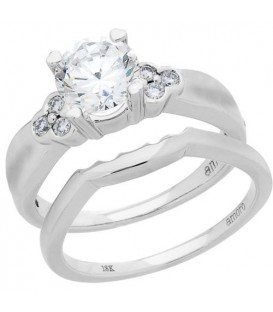 1.15 Carat Eternitymark Diamond Bridal Set 18Kt White Gold
