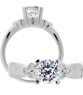 More about 1.20 Carat Round Brilliant Pristine Hearts Diamond Ring 18Kt White Gold