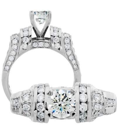 Rings - 1.87 Carat Round Brilliant Diamond Ring 18Kt White Gold