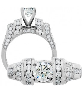 More about 1.87 Carat Round Brilliant Diamond Ring 18Kt White Gold