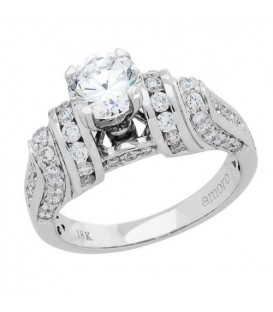 1.87 Carat Round Brilliant Diamond Ring 18Kt White Gold