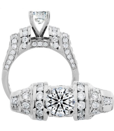 Rings - 1.89 Carat Round Brilliant Eternitymark Diamond Ring 18Kt White Gold