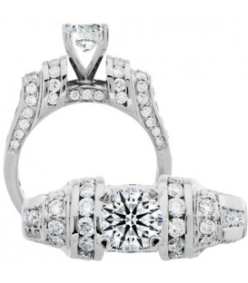 1.89 Carat Round Brilliant Eternitymark Diamond Ring 18Kt White Gold