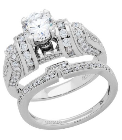 Rings - 1.89 Carat Eternitymark Diamond Bridal Set 18Kt White Gold
