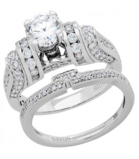 More about 1.98 Carat Eternitymark Diamond Bridal Set 18Kt White Gold