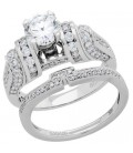 1.98 Carat Eternitymark Diamond Bridal Set 18Kt White Gold