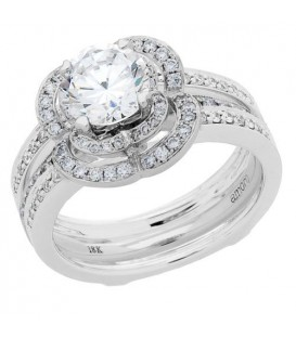 1.69 Carat Eternitymark Diamond Bridal Set 18Kt White Gold