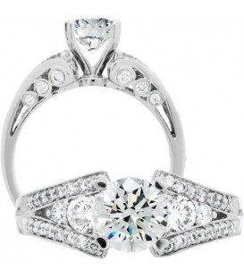 Rings - 1.74 Carat Round Brilliant Diamond Ring 18Kt White Gold
