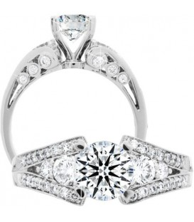 More about 1.85 Carat Round Brilliant Eternitymark Diamond Ring 18Kt White Gold