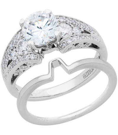 Rings - 1.85 Carat Eternitymark Diamond Bridal Set 18Kt White Gold