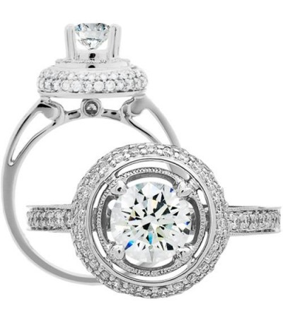 Rings - 1.49 Carat Round Brilliant Diamond Ring 18Kt White Gold