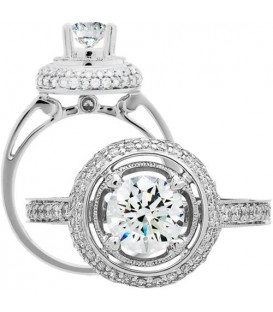 1.49 Carat Round Brilliant Diamond Ring 18Kt White Gold