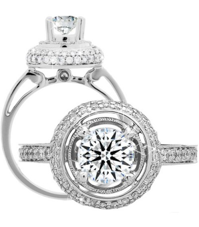 Rings - 1.49 Carat Round Brilliant Eternitymark Diamond Ring 18Kt White Gold