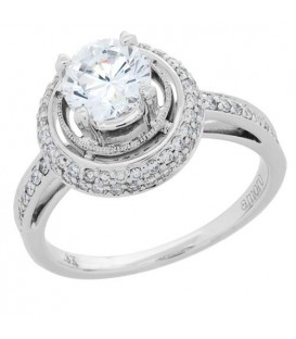 1.49 Carat Round Brilliant Eternitymark Diamond Ring 18Kt White Gold