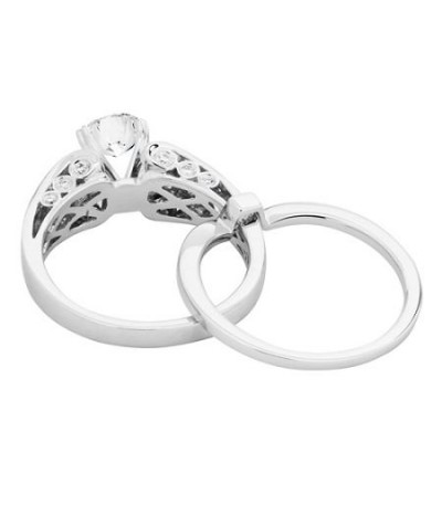 1.72 Carat Eternitymark Diamond Bridal Set 18Kt White Gold