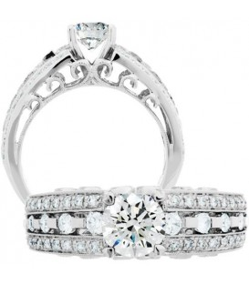 1.20 Carat Round Brilliant Diamond Ring 18Kt White Gold
