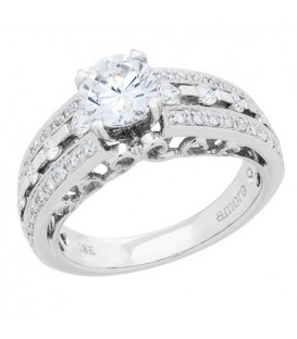 1.17 Carat Round Brilliant Eternitymark Diamond Ring 18Kt White Gold