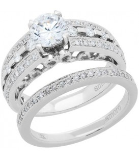 More about 1.26 Carat Eternitymark Diamond Bridal Set 18Kt White Gold