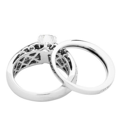 1.26 Carat Eternitymark Diamond Bridal Set 18Kt White Gold