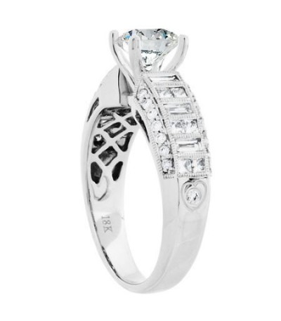 1.72 Carat Round Brilliant Diamond Ring 18Kt White Gold
