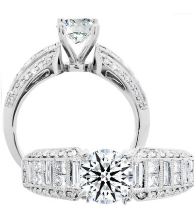 Rings - 1.79 Carat Round Brilliant Eternitymark Diamond Ring 18Kt White Gold