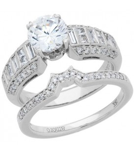 Rings - 1.79 Carat Eternitymark Diamond Bridal Set 18Kt White Gold
