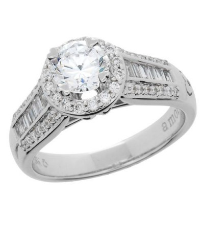 1 Carat Round Brilliant Eternitymark Diamond Ring 18Kt White Gold