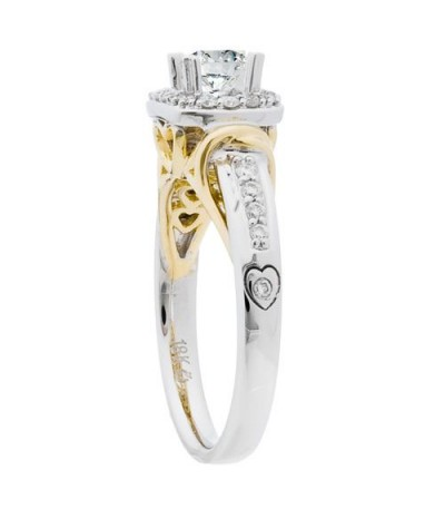 0.76 Carat Round Brilliant Diamond Ring 18Kt Two-Tone Gold