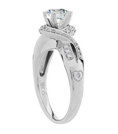 0.72 Carat Round Brilliant Eternitymark Diamond Ring 18Kt White Gold