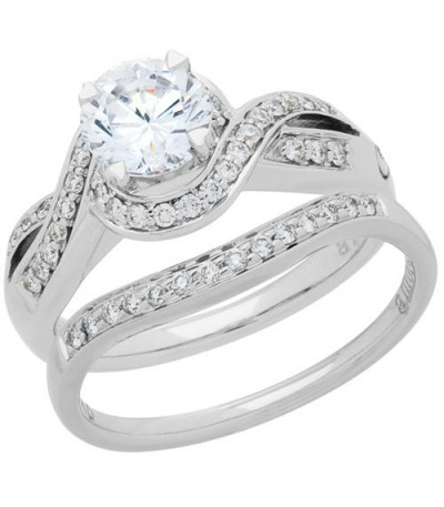 Rings - 0.72 Carat Eternitymark Diamond Bridal Set 18Kt White Gold