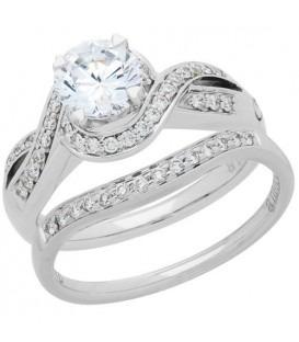 More about 0.72 Carat Eternitymark Diamond Bridal Set 18Kt White Gold