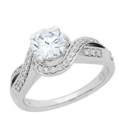 0.72 Carat Eternitymark Diamond Bridal Set 18Kt White Gold