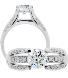 More about 0.97 Carat Round Brilliant Diamond Ring 18Kt White Gold