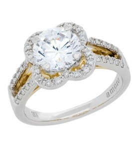 0.96 Carat Eternitymark Diamond Bridal Set 18Kt Two-Tone Gold