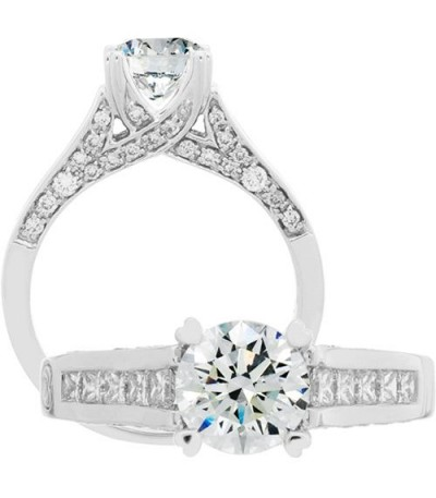 Rings - 1.43 Carat Round Brilliant Diamond Ring 18Kt White Gold