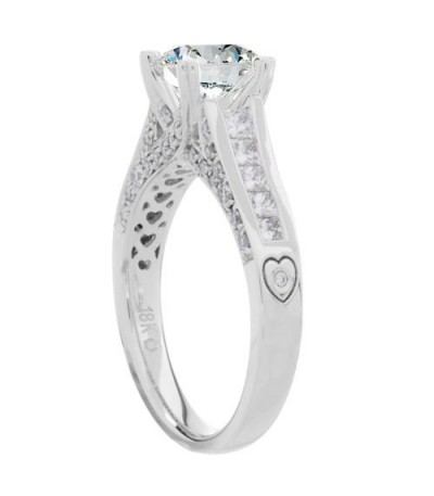 1.43 Carat Round Brilliant Diamond Ring 18Kt White Gold