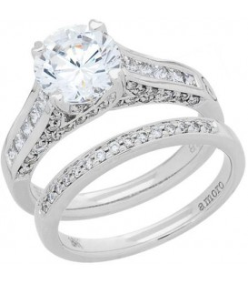 Rings - 1.38 Carat Eternitymark Diamond Bridal Set 18Kt White Gold