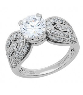 1.75 Carat Round Brilliant Eternitymark Diamond Ring 18Kt White Gold
