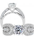 1.79 Carat Round Brilliant Pristine Hearts Diamond Ring 18Kt White Gold