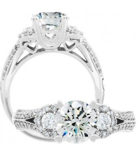 More about 1.38 Carat Round Brilliant Diamond Ring 18Kt White Gold