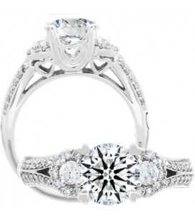 1.39 Carat Round Brilliant Eternitymark Diamond Ring 18Kt White Gold